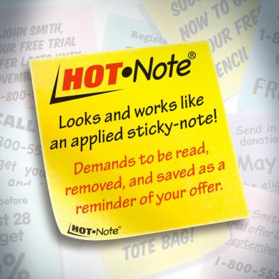 Hot Note® Now a Registered Trademark for Tension Envelope Corporation